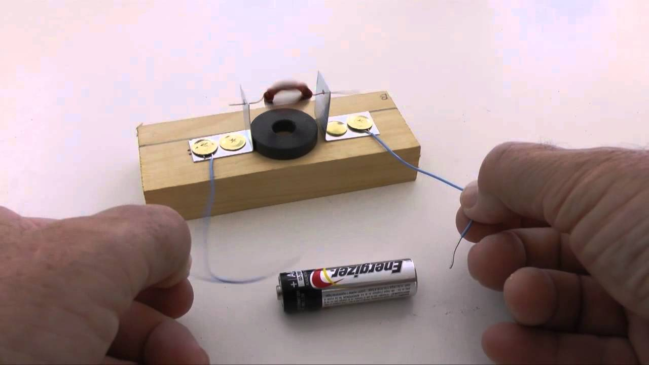 How to build an electric motor at home this is pretty for Simple electric motor science project