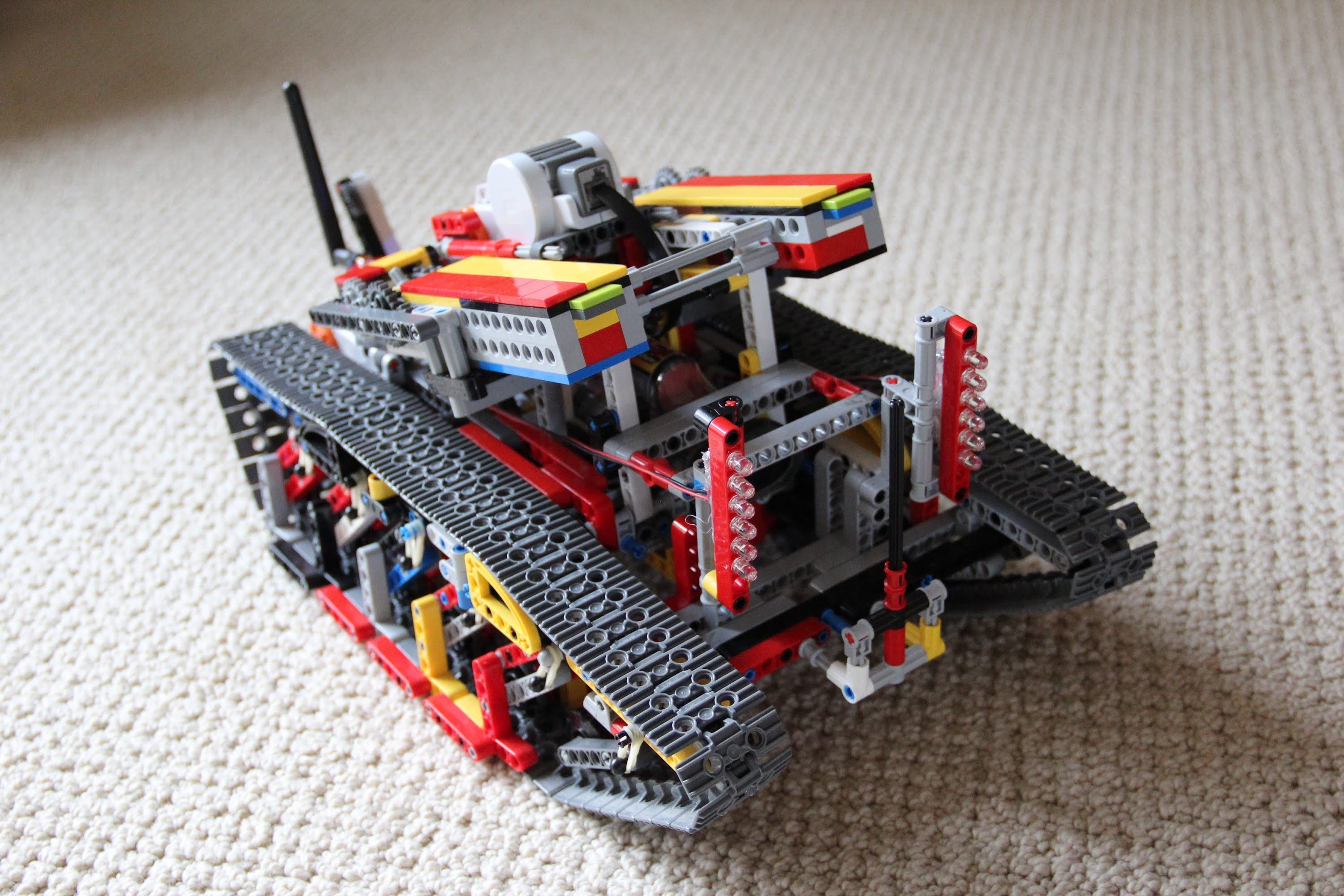 Guy makes a lego tank with wifi powered by arduino