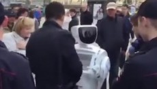 Robot Arrested at political rally